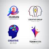 Grupo do vetor de logotipo do homem, grupo criativo, hora Fotografia de Stock Royalty Free