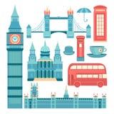 Grupo do vetor de Londres Imagens de Stock Royalty Free
