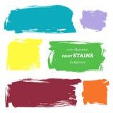 Grupo do vetor de manchas da pintura do grunge. Ilustração EPS 8 do vetor Imagem de Stock Royalty Free