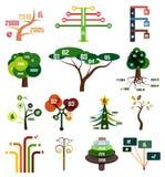 Grupo do vetor de moldes infographic do projeto da árvore Foto de Stock Royalty Free