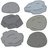 Grupo do vetor de pedra ilustração royalty free