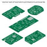 Grupo do vetor de placas de circuito impresso detalhadas ilustração royalty free