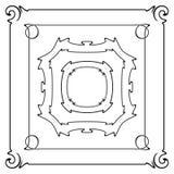 Grupo do vetor de quadros do art nouveau para a cópia e o projeto Fotografia de Stock Royalty Free