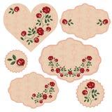 Grupo do vetor de quadros florais ilustração stock