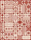 Grupo do vetor de símbolos sagrados e de mandalas da geometria ilustração do vetor