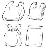 Grupo do vetor de saco de plástico ilustração royalty free