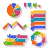 Grupo do vetor de setas e diagrama para infographic Imagens de Stock