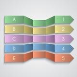 Grupo do vetor de setas enemerated papel dobradas Imagem de Stock