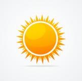 Grupo do vetor de sol lustroso ilustração stock