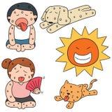 Grupo do vetor de tempo quente ilustração do vetor