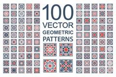 Grupo do vetor de testes padrões geométricos Imagem de Stock