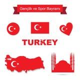 Grupo do vetor de Turquia Fotos de Stock Royalty Free