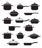 Grupo do vetor de utensílios da cozinha Imagens de Stock Royalty Free