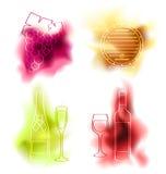 Grupo do vetor de vinho Imagens de Stock Royalty Free