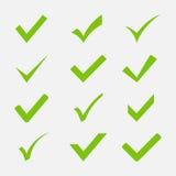 Grupo do vetor do ícone da marca de verificação imagem de stock royalty free