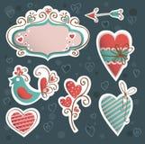 Grupo do vetor do ícone do Valentim Fotografia de Stock