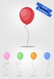 Grupo do vetor do balão Foto de Stock