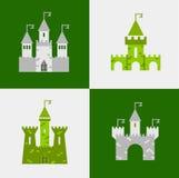 Grupo do vetor do castelo Imagens de Stock Royalty Free