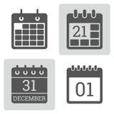 Grupo do vetor do ícone do calendário Imagens de Stock