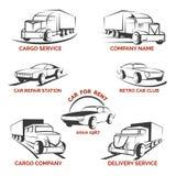 Grupo do vetor do logotipo do clube do carro Imagens de Stock Royalty Free