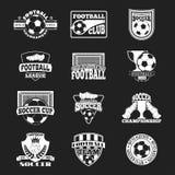 Grupo do vetor do sinal do futebol Fotos de Stock Royalty Free