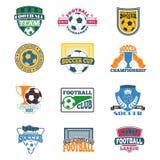 Grupo do vetor do sinal do futebol Imagem de Stock Royalty Free
