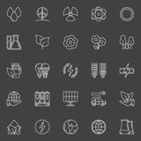 Grupo do vetor dos ícones da ecologia Fotografia de Stock