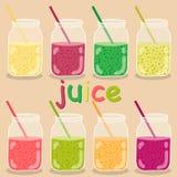 Grupo do vetor dos ícones ilustração da limonada Ícones minimalistas Imagens de Stock Royalty Free