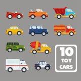 Grupo do vetor dos ícones isolados do transporte ilustração stock