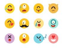 Grupo do vetor dos cyclops dos Emoticons Foto de Stock
