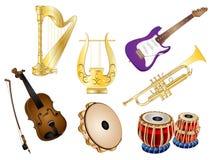 Grupo do vetor dos instrumentos musicais Imagem de Stock