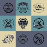 Grupo do vetor dos logotypes e dos crachás da loja de arma Fotos de Stock