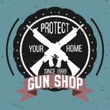 Grupo do vetor dos logotypes e dos crachás da loja de arma Imagem de Stock