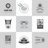 Grupo do vetor dos logotypes do sushi Grupo do vetor dos logotypes do sushi ilustração do vetor