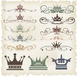 Grupo do vetor. Elementos caligráficos do projeto Fotografia de Stock Royalty Free