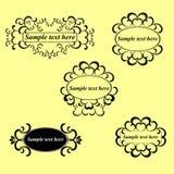 Grupo do vetor, elementos caligráficos do projeto e página d Imagens de Stock Royalty Free