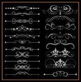 Grupo do vetor. Elementos caligráficos do projeto para seu projeto. Fotografia de Stock Royalty Free