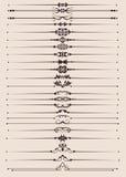 Grupo do vetor. Elementos caligráficos do projeto para seu projeto. Imagens de Stock