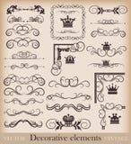 Grupo do vetor. Elementos caligráficos do projeto para seu projeto. Foto de Stock Royalty Free
