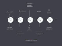 Grupo do vetor, etiqueta do círculo do infographics 3D com 5 opções ou etapas Imagens de Stock