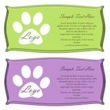 Grupo do vetor Etiquetas do alimento para cães Imagens de Stock Royalty Free