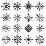 Grupo do vetor do floco de neve Imagens de Stock