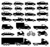 Grupo do vetor Vetor dos carros Fotografia de Stock Royalty Free