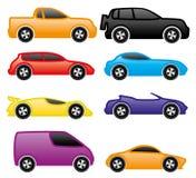 Grupo do vetor Vetor dos carros Fotografia de Stock