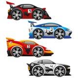 Grupo do vetor Vetor dos carros Foto de Stock