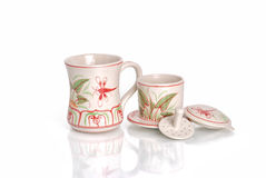 Grupo do vietnamita de filtro da cerâmica/café de China Fotos de Stock Royalty Free