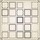 Grupo do vintage de elementos quadrados Fotografia de Stock