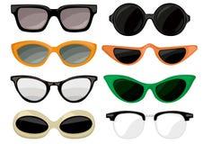 Grupo do vintage dos óculos de sol Imagem de Stock