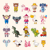Grupo dos ícones animais Foto de Stock Royalty Free