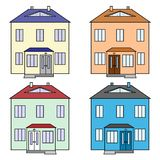 Grupo dos ícones das casas de moradia ilustração royalty free